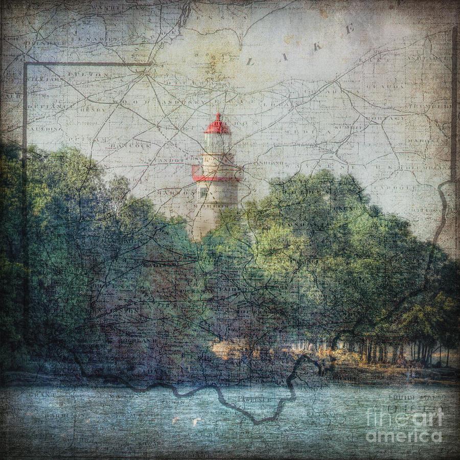 Old Map Series-Ohio by Pamela Baker