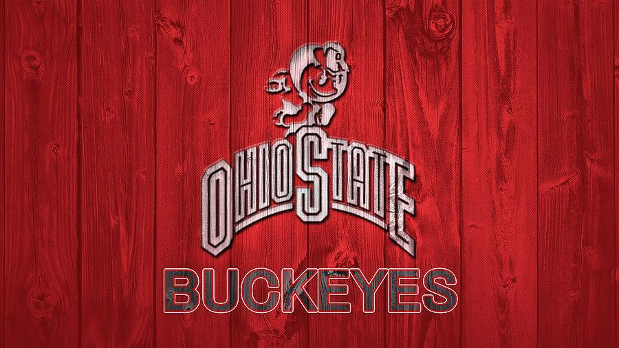 Ohio State Buckeyes Barn Door Mixed Media