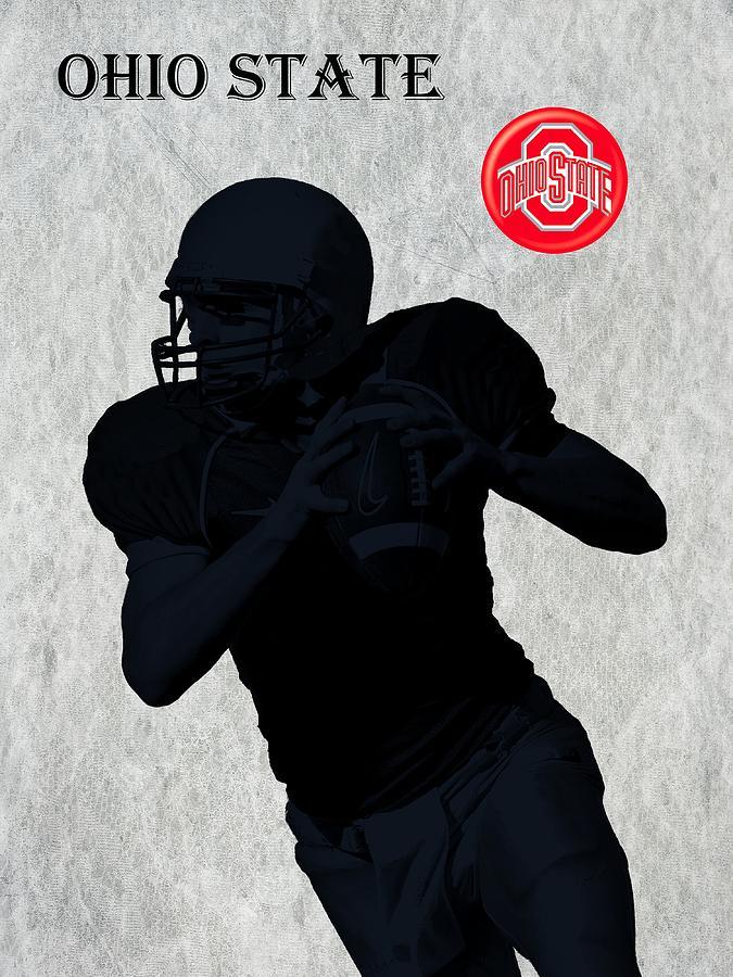 Football Digital Art - Ohio State Football by David Dehner