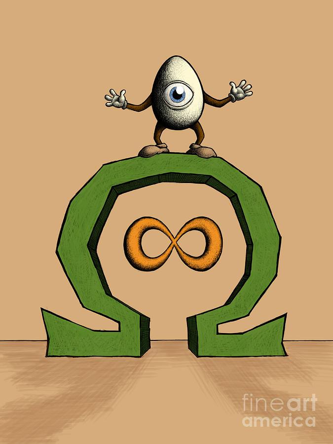 Egg Digital Art - ohmEGGa - All Seeing Ei by M o R x N