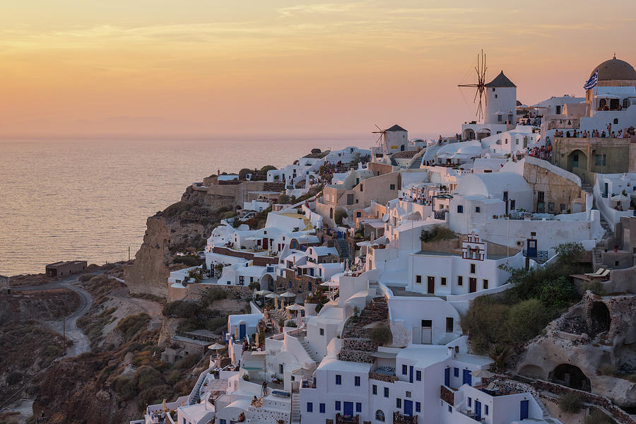 Oia At Dusk Photograph by I Enjoy Taking Photos And Traveling The World.