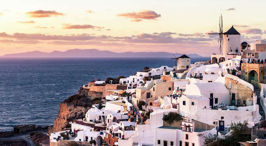 Oia At Sunset Photograph by C. Fredrickson Photography