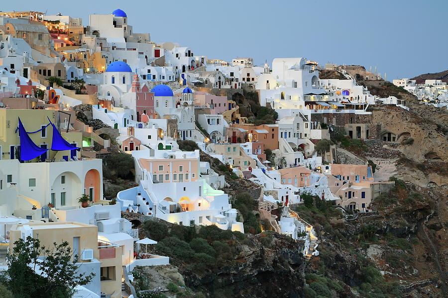 Oia City View In Santorini Island Photograph by Iñigo Escalante