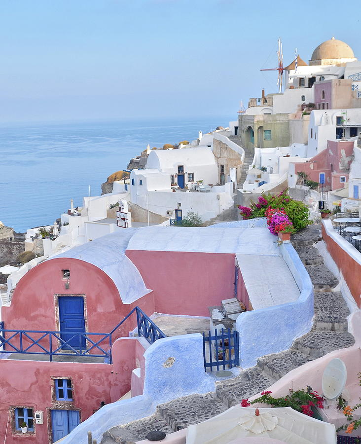 Oia Landscape Photograph by Roy Cheung