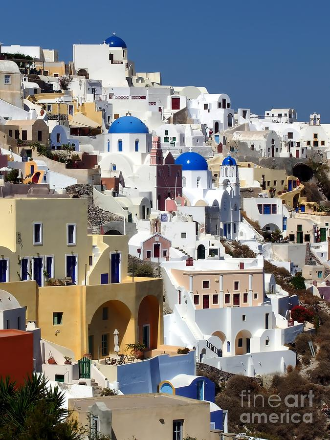 Travel Photography Photograph - Oia Santorini Island by Sophie Vigneault