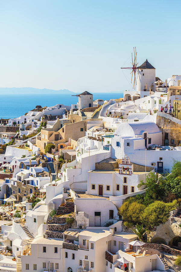 Oia Village, Santorini Island, Greece Photograph by Deimagine