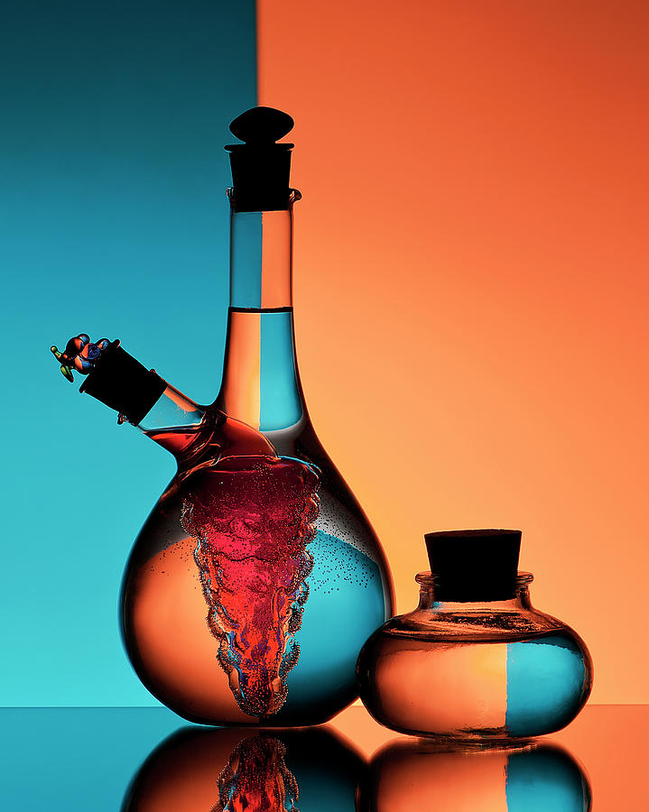 Still Life Photograph - Oil And Vinegar by Aida Ianeva