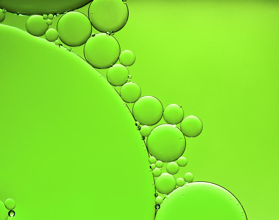 Oil And Water Abstract Background Photograph by Assalve
