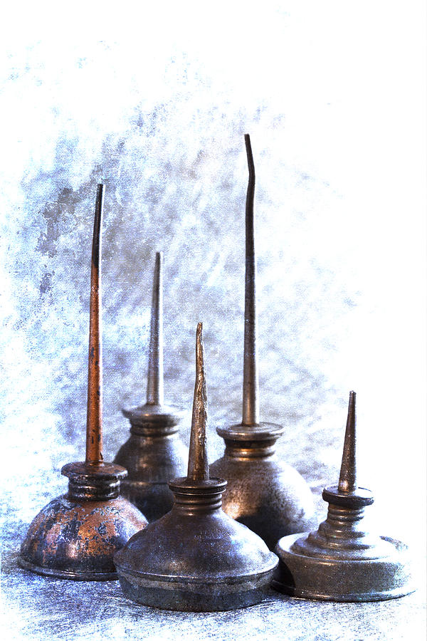 Oil Cans Photograph - Oil Cans by Carol Leigh