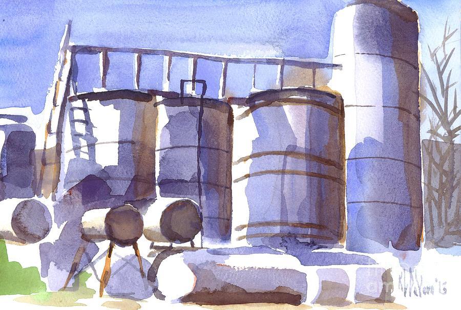 Watercolor Painting - Oil Depot In April by Kip DeVore