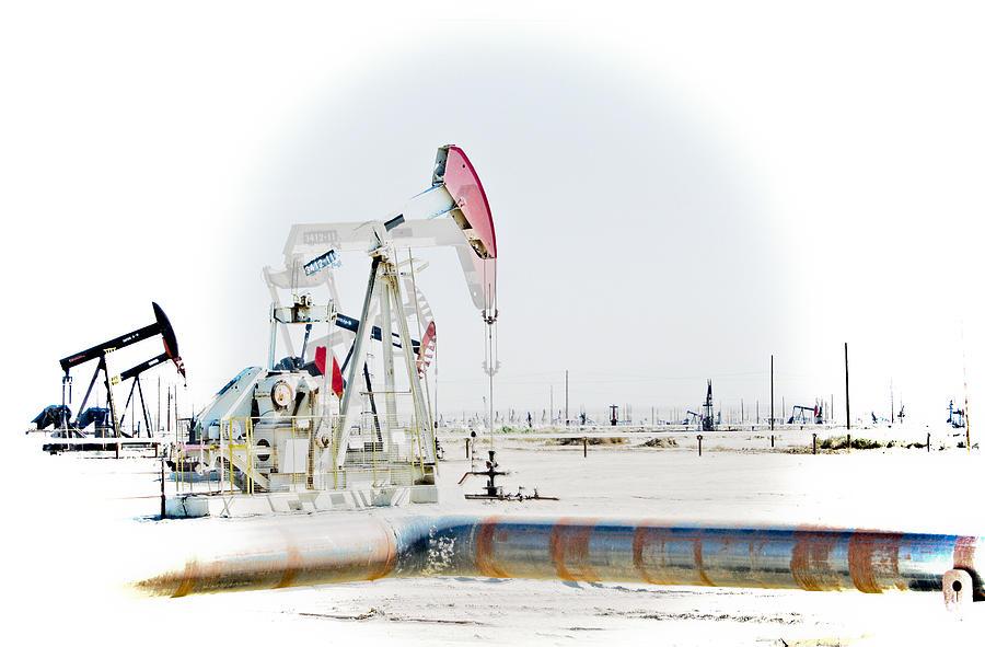 Oil Photograph - Oil Field by Joel Loftus
