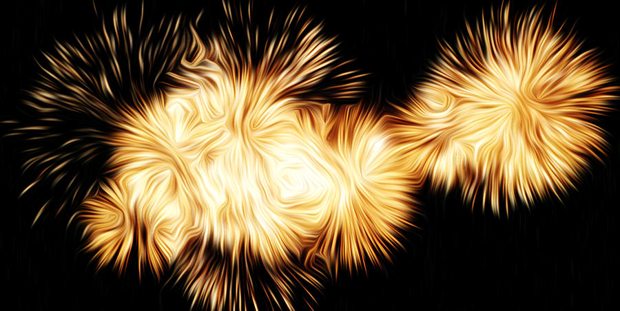 Fireworks Photographs Pyrography - Oil Fireworks by Stefan Petrovici