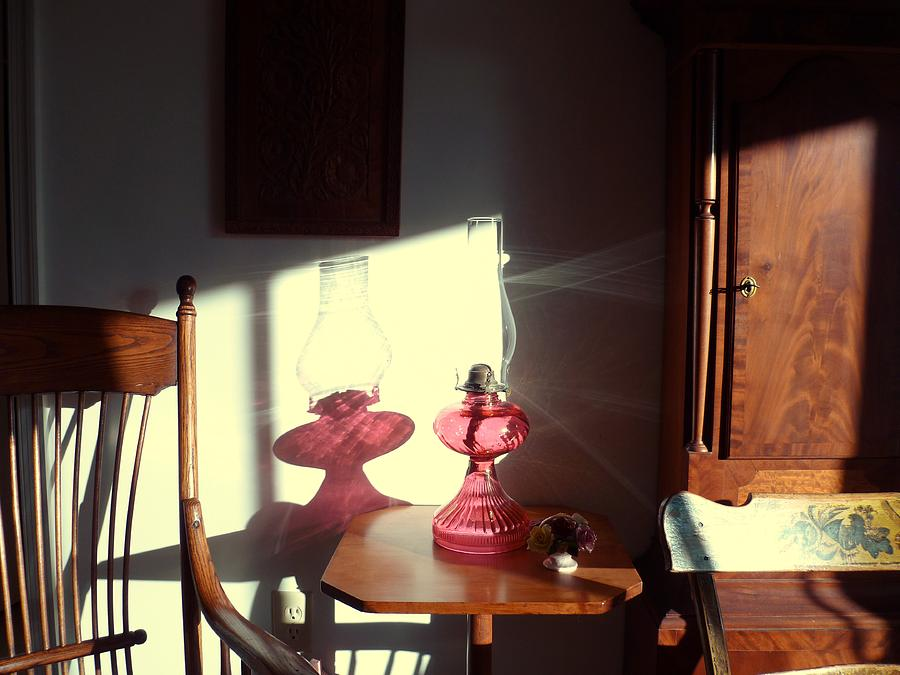 Oil Lamp Photograph - Oil Lamp Reflections by Gordon Maull