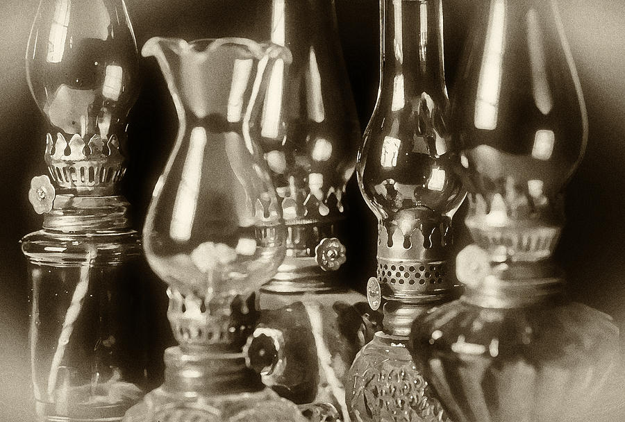 Oil Photograph - Oil Lamps by Patrick M Lynch
