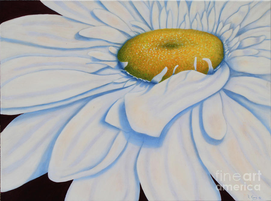 Daisy Painting - Oil Painting - Daisy by Roena King