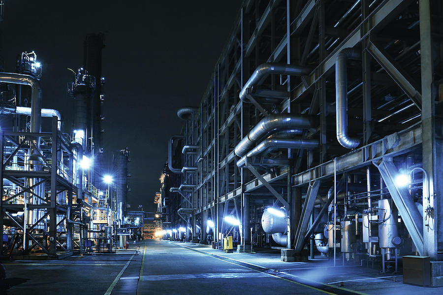 Oil Refinery, Chemical & Petrochemical Photograph by Zorazhuang