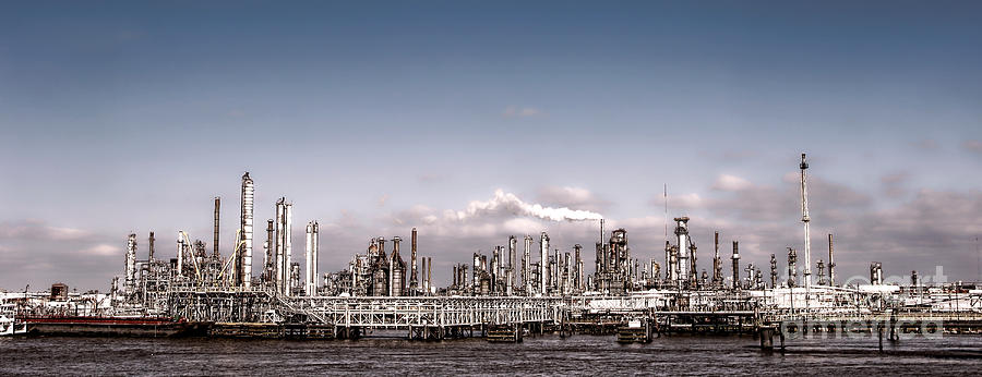 Oil Photograph - Oil Refinery by Olivier Le Queinec