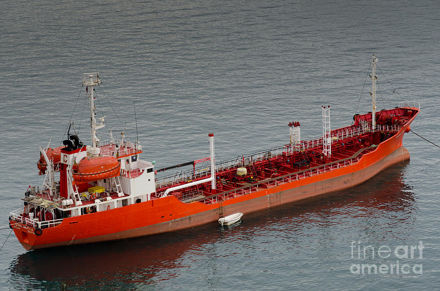 Oil Tanker Karol Wojtyla Valetta Malta Photograph