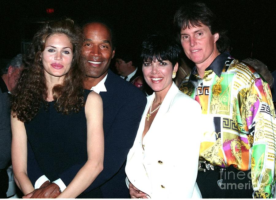 O.j. Simpson Photograph - O.j. Simpson - Paula Barbieri - Kris And Bruce Jenner Party In Palm Springs by Gary Kaplan