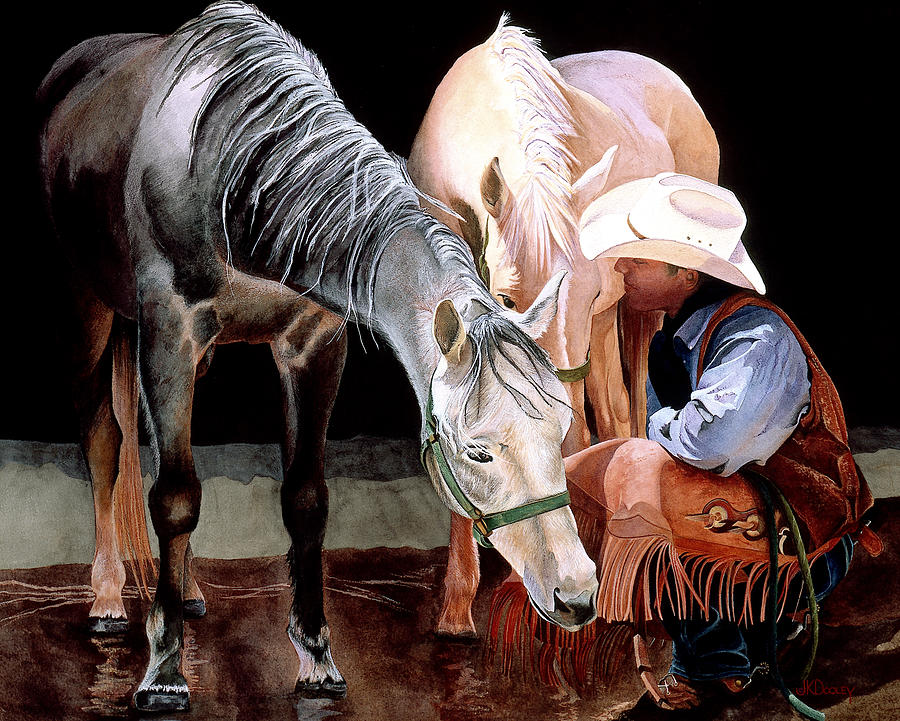 Horse Painting - Ok Guys Heres The Plan by JK Dooley