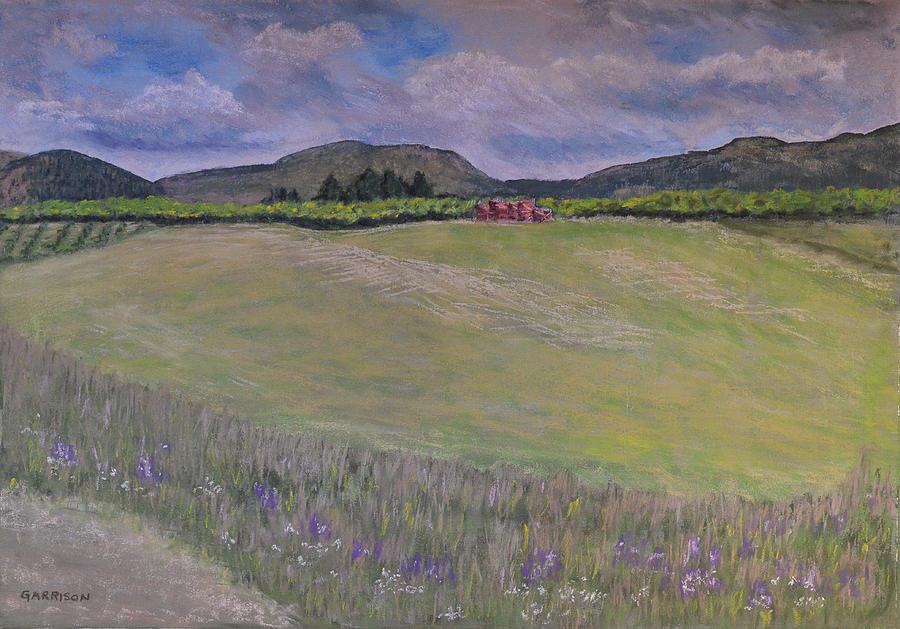 Orchard Painting - Okanagan Apple Season by Marina Garrison