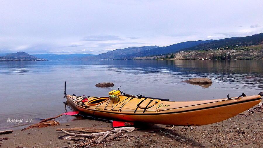 Okanagan Lake - Kayaking Photograph by Guy Hoffman
