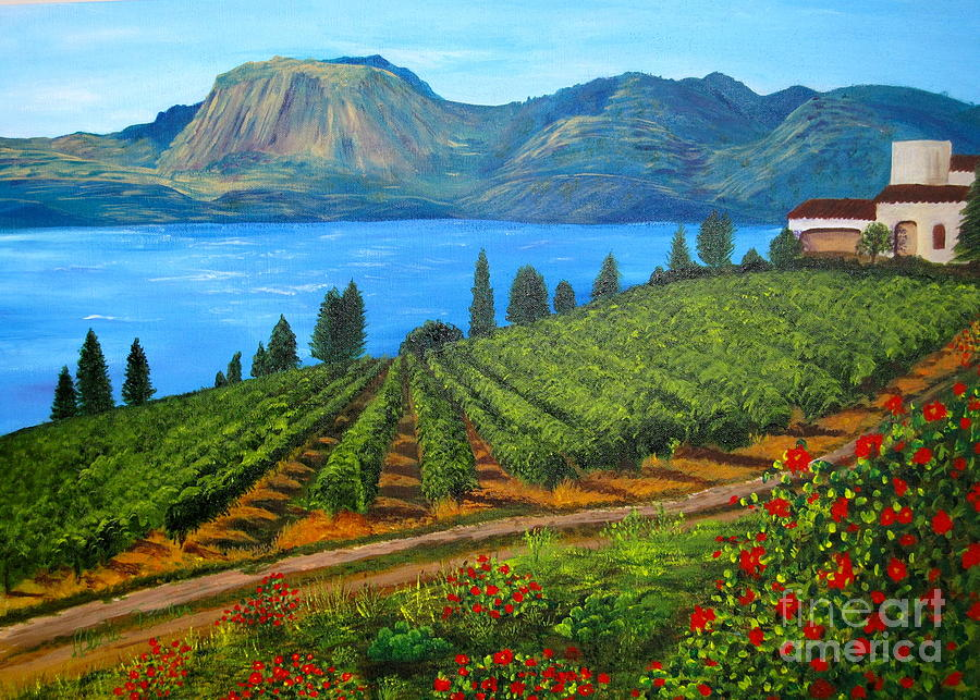 Okanagan Vineyard Painting By Alicia Fowler