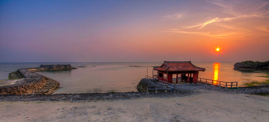 Okinawa Photograph - Okinawa Sunset In Yomitan by Chris Rose