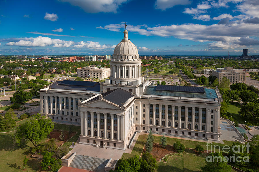 Oklahoma City Photograph - Oklahoma City State Capitol Building C by Cooper Ross