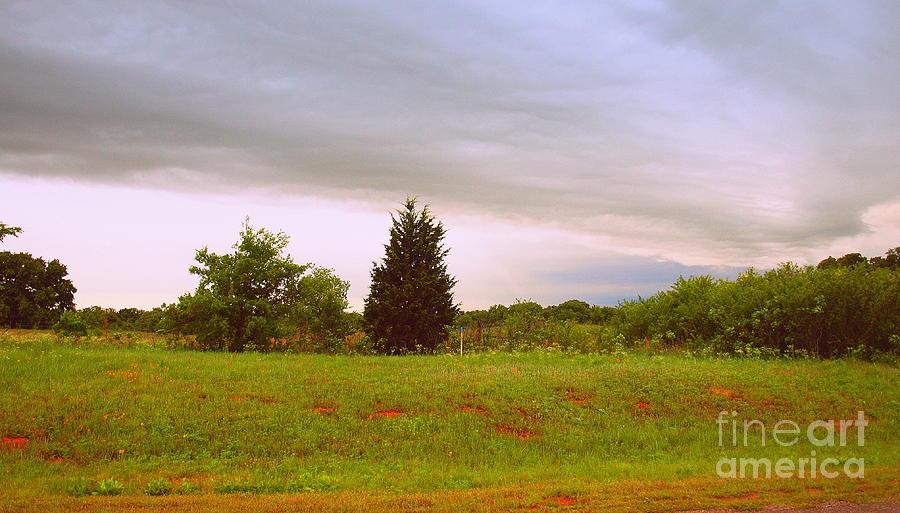 Landscape Photograph - Oklahoma Storm Cloud by Mickey Harkins