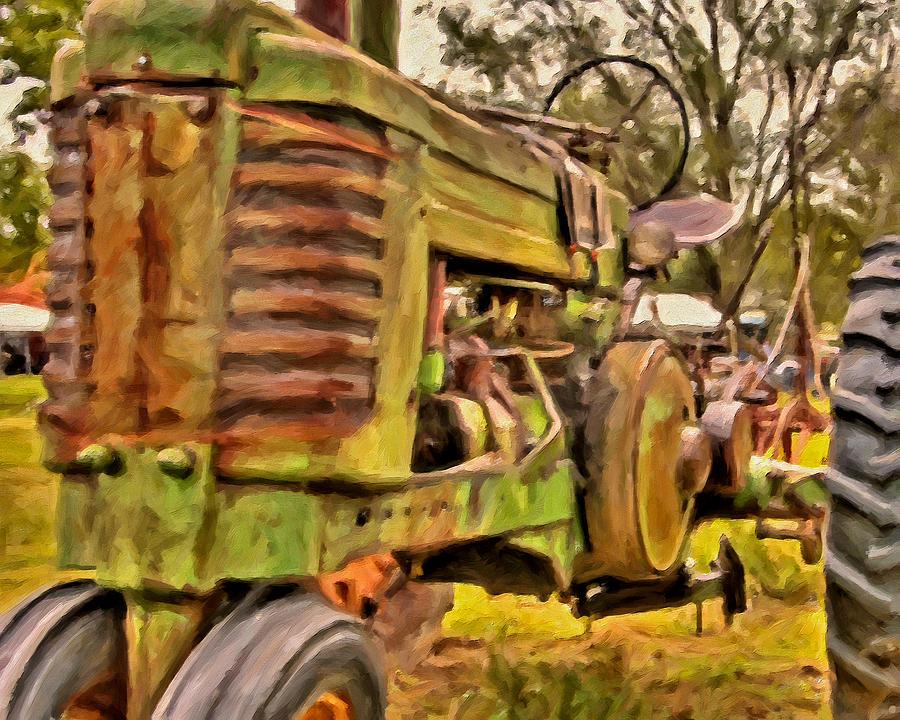 Tractors Painting - Ol John Deere by Michael Pickett