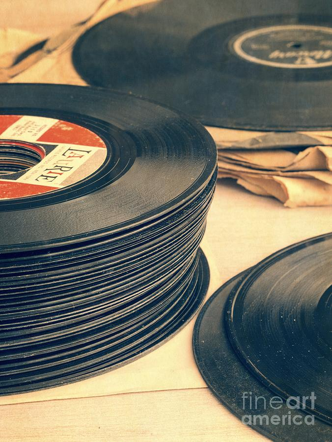50s Photograph - Old 45s by Edward Fielding