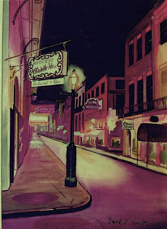 Old Absinthe House New Orleans Painting by Frank Hunter