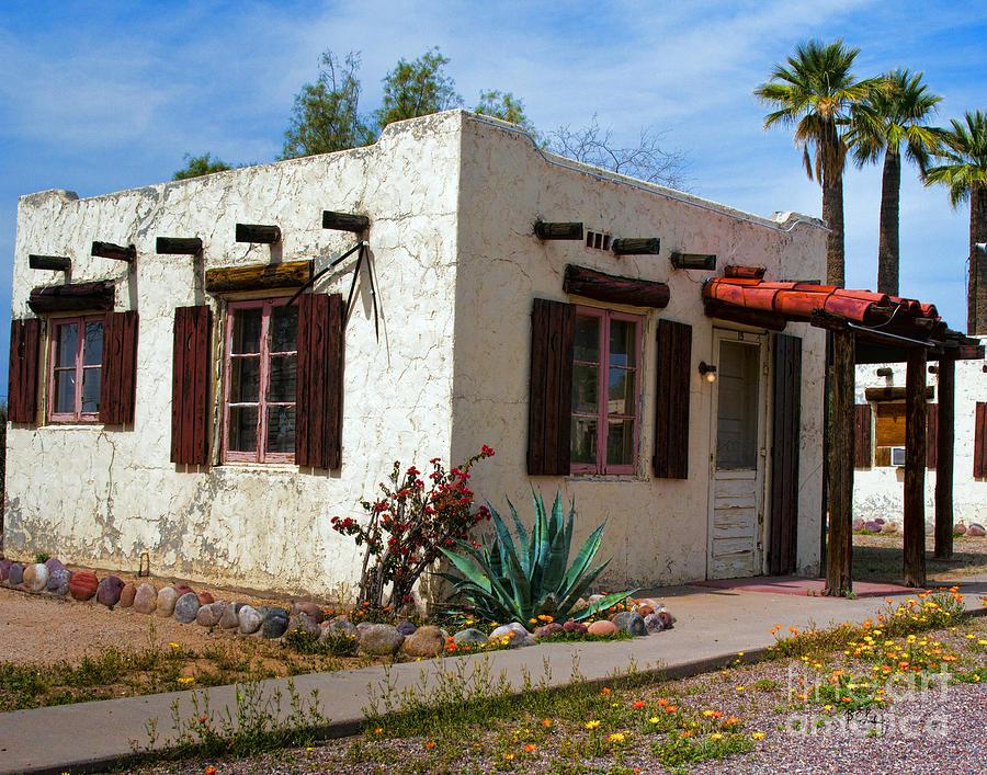 Arizona Painting - Old Adobe Cottage by Brian Lambert
