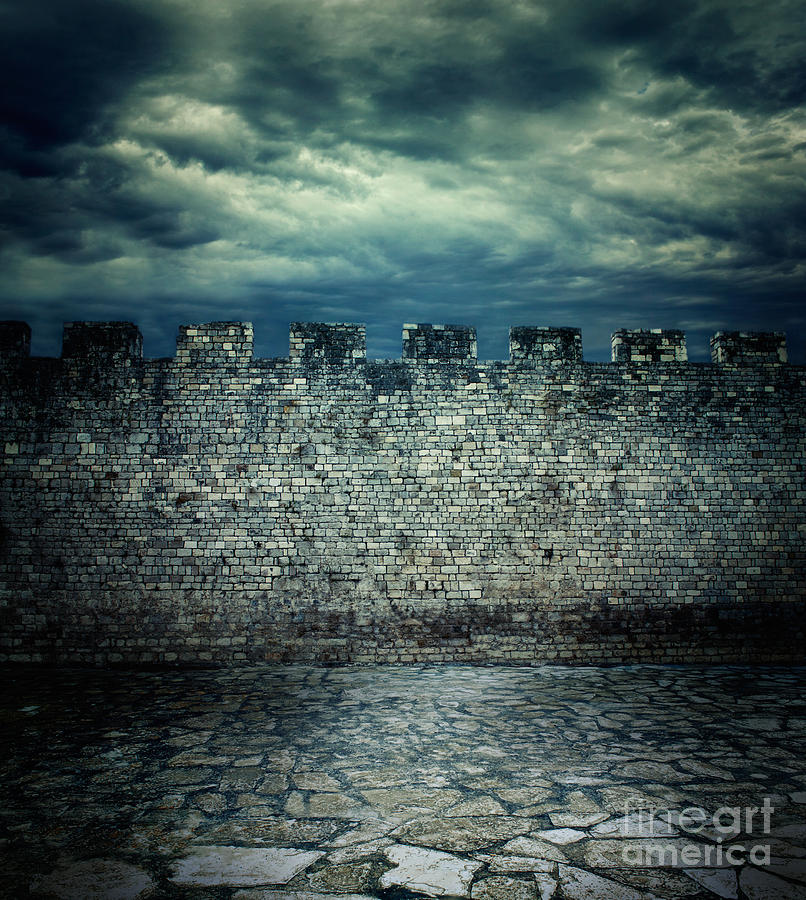 Abstract Photograph - Old Ancient Wall by Mythja  Photography