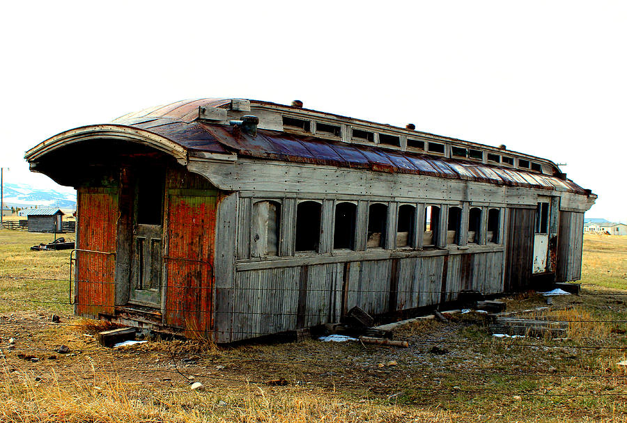 Train Photograph - Old And Forgotten by Roxann Tempel