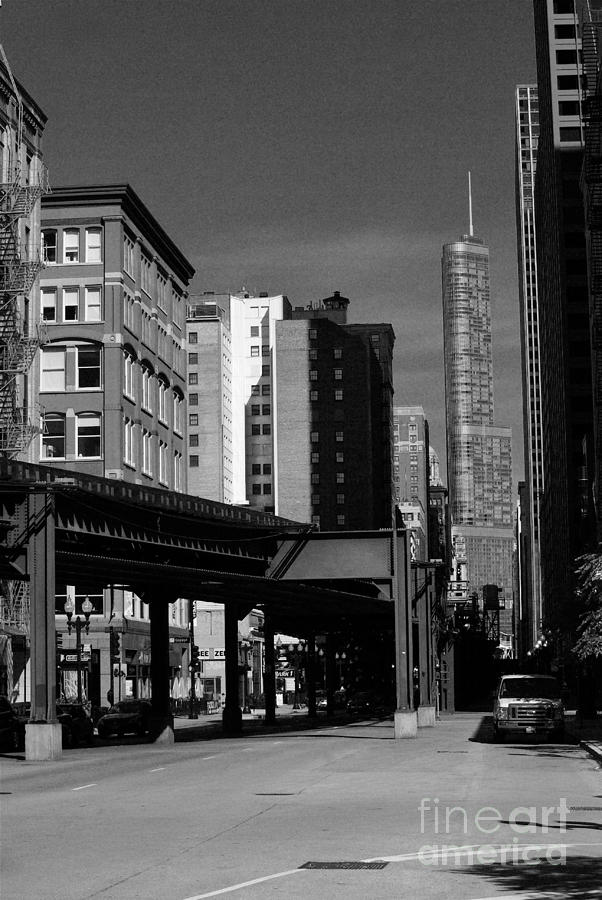 Usa Photograph - Old and New Chicago by Frank J Casella