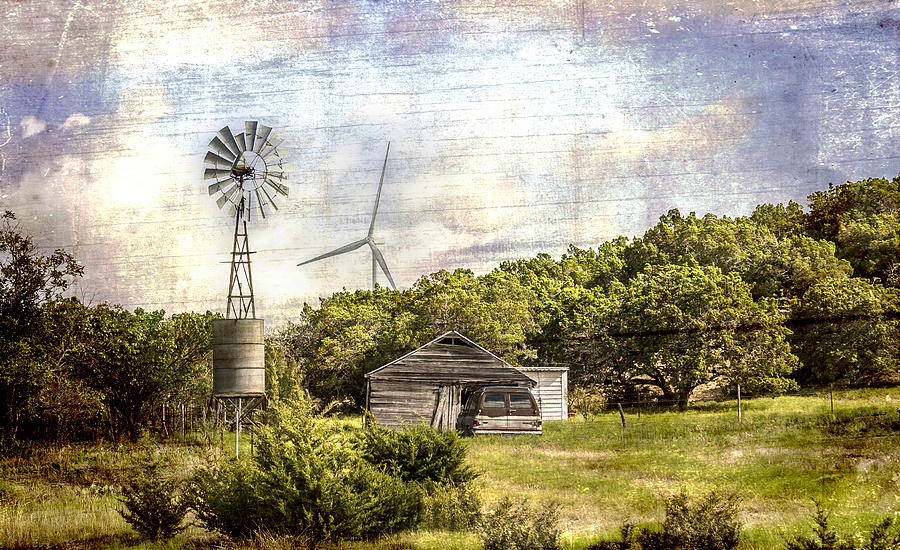 Old and New Technology - with Artistic Textural Enhancements by Karen Stephenson