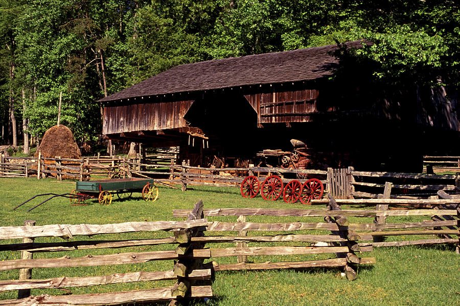 Barn Photograph - Old Appalachian Farm Cantilevered Barn by Paul W Faust -  Impressions of Light