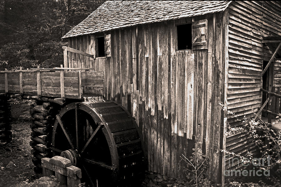 Grist Mill Photograph - Old Appalachian Mill by Paul W Faust -  Impressions of Light