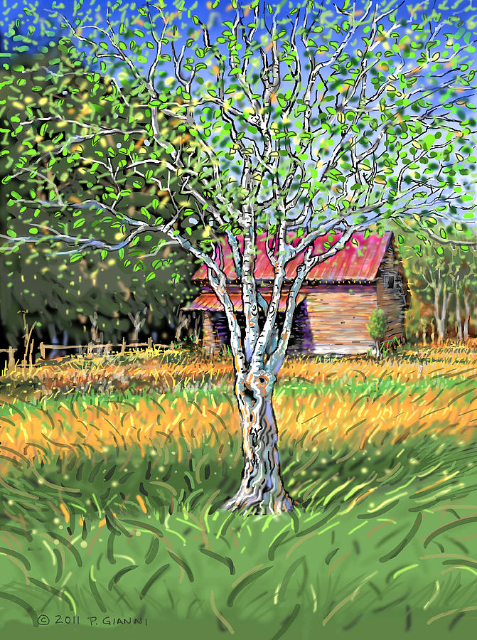 Landscape Painting - Old Apple Tree by Philip Gianni