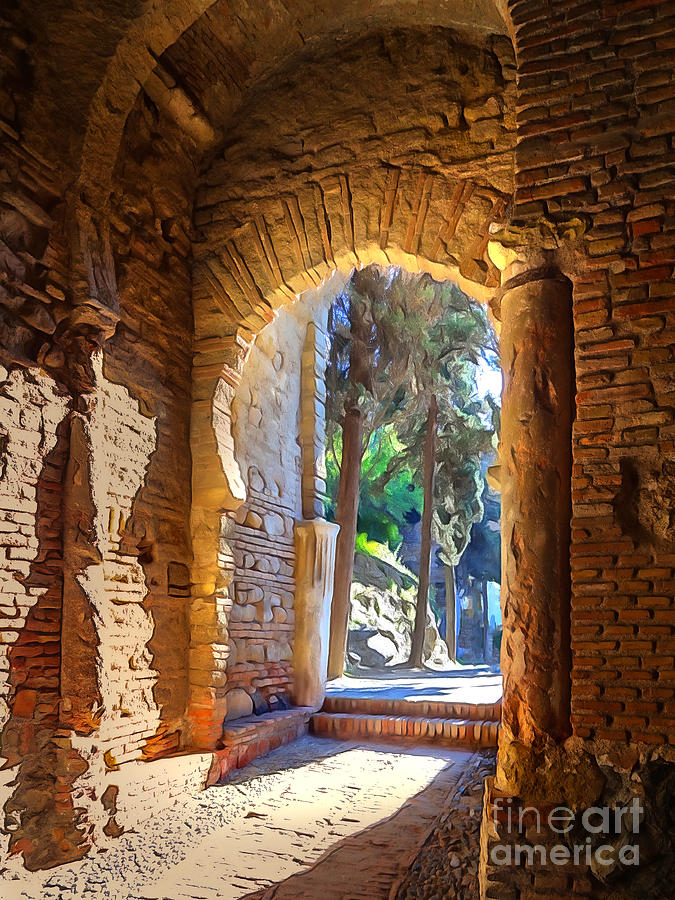 Archway Photograph - Old Archway by Lutz Baar