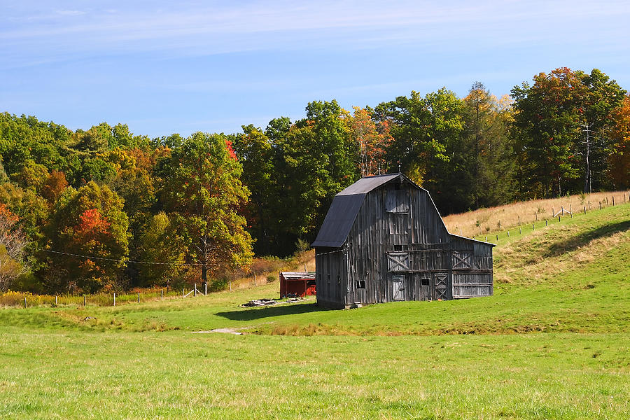 Old Barn Country Scene 1 Photograph By John Brueske