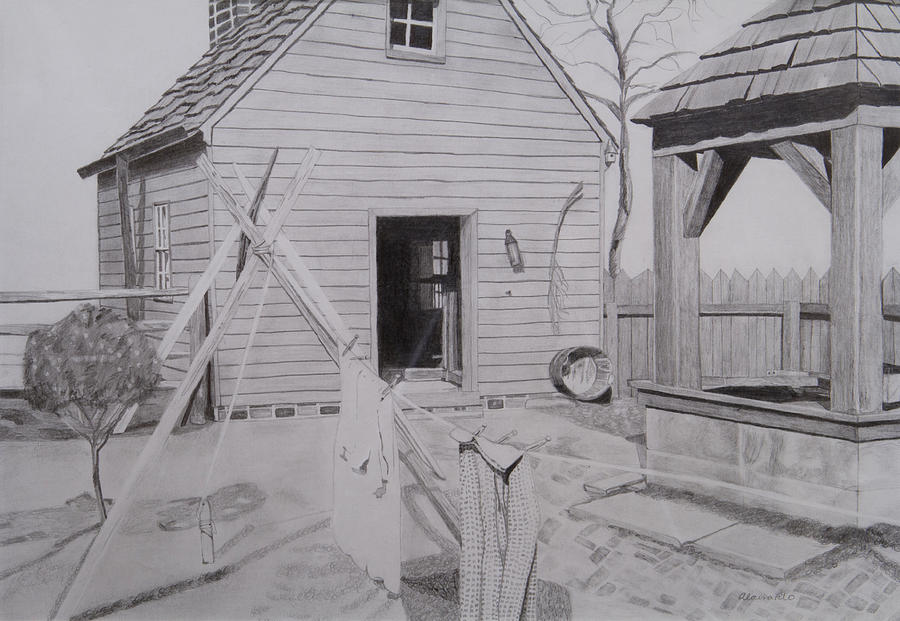 Old Barn House Drawing By Alaina Filo