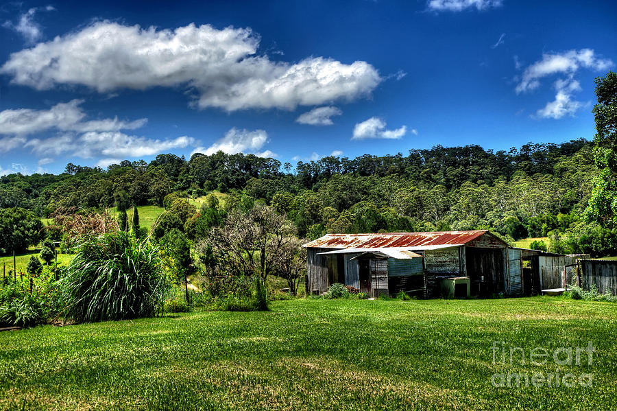 Photography Photograph - Old Barn In Lush Green Countryside by Kaye Menner
