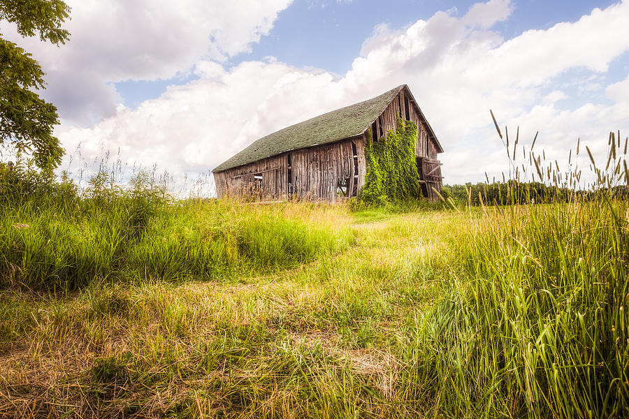 Old Barn Photograph - Old Barn In Ontario County - New York State by Gary Heller