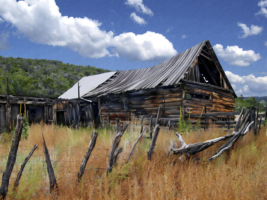 Barn Photograph - Old Barn Las Trampas New Mexico by Kurt Van Wagner