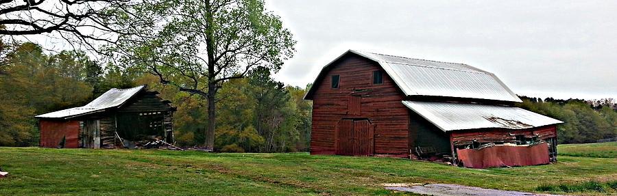 Farm Photograph - Old Barn by Sarah E Kohara