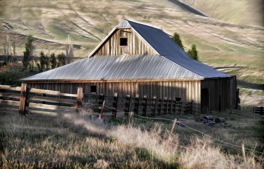 Cabin Photograph - Old Barn by Steve McKinzie