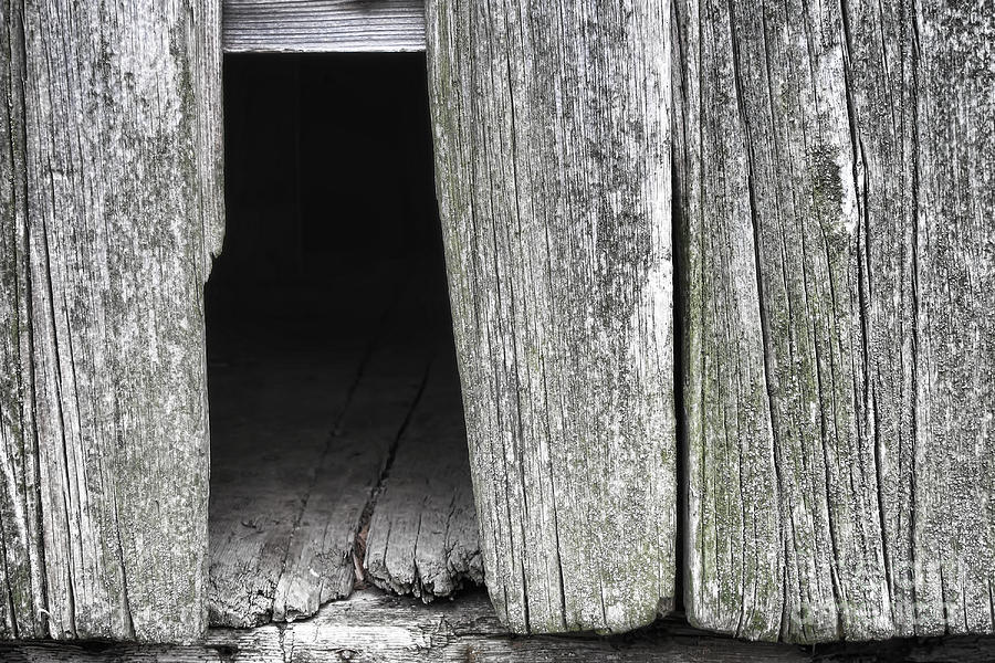 Hole Photograph - Old Barn Wall by Olivier Le Queinec